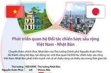 [Infographics] Phát triển quan hệ Đối tác chiến lược Việt Nam-Nhật Bản