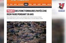 [Video] Pháp lãng phí 1,6 triệu USD mỗi năm cho nhân viên ngồi chơi