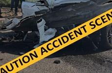 Hai xe buýt và hai xe ôtô phanh gấp đâm liên hoàn, 19 người thiệt mạng