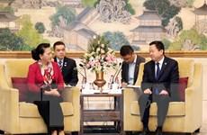 Chủ tịch Quốc hội tiếp Bí thư Thành ủy thành phố Tô Châu