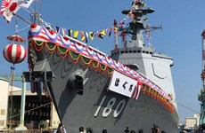 Nhật Bản hạ thủy tàu khu trục Haguro trang bị hệ thống Aegis mới