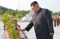 Ông Kim Jong-un viếng nghĩa trang liệt sỹ chiến tranh Triều Tiên