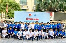 Thanh niên Hà Nội xuất quân hoạt động tình nguyện tại thủ đô của Lào