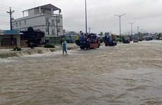 Phú Quốc tiếp tục hứng chịu mưa lớn, tái diễn tình trạng ngập cục bộ