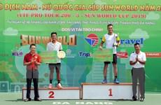 Bế mạc Giải Quần vợt Vô địch nam-nữ quốc gia năm 2019