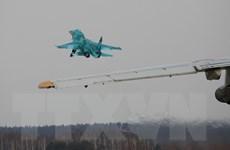 Hai máy bay ném bom siêu thanh Su-34 của Nga va chạm, hư hỏng nặng
