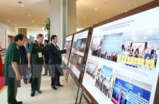 Trưng bày hình ảnh của Mặt trận Tổ quốc Việt Nam nhiệm kỳ 2014-2019