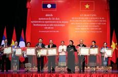 Trao tặng Huân, Huy chương cho các tập thể, cá nhân của Quốc hội Lào