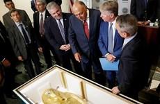 Quan tài bằng vàng nghìn năm tuổi bị đánh cắp được trả về Ai Cập