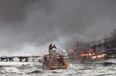 Hàn Quốc nỗ lực tìm kiếm các thuyền viên mất tích trong vụ cháy tàu cá