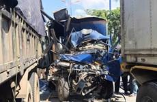 TP. HCM: 5 xe ôtô đâm nhau khiến 2 người thương vong