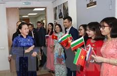Chủ tịch Quốc hội gặp gỡ cộng đồng người Việt tại CH Tatarstan