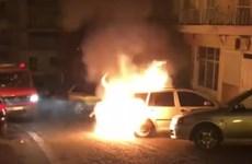Xe ôtô của nhà ngoại giao Thổ Nhĩ Kỳ ở Hy Lạp bị đốt cháy