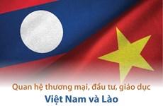 [Infographics] Quan hệ thương mại, đầu tư, giáo dục Việt Nam-Lào