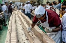 Ấn Độ lập kỷ lục thế giới với chiếc bánh ngọt dài tới 6,5km