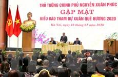 Thủ tướng gặp mặt kiều bào tham dự chương trình Xuân quê hương 2020