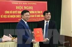 Điều động, bổ nhiệm Trưởng ban Tổ chức Tỉnh ủy Hải Dương