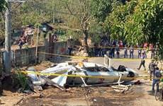 Trực thăng chở quan chức cảnh sát Philippines bốc cháy khi cất cánh