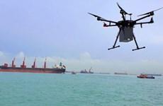 Singapore triển khai dịch vụ giao nhận hàng hóa ngoài khơi bằng drone