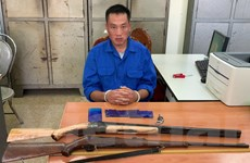 Sơn La: Bắt đối tượng mang 2 khẩu súng và hơn 600 viên ma túy tổng hợp