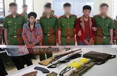 Sơn La: Bắt hai đối tượng mua bán trái phép ma túy mang theo súng