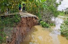 Cần Thơ: Khẩn trương khắc phục sạt lở bờ kênh ở quận Cái Răng
