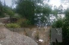 Tiền Giang: Cấp bách khắc phục sạt lở trên tuyến kênh Chợ Gạo