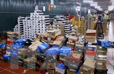 Kho hàng lậu tại Lào Cai chứa hàng chục nghìn mặt hàng không xuất xứ