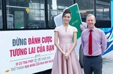 Hai Hoa hậu tham gia tuyên truyền công tác phòng chống mua bán người