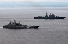 Hơn 20 tàu chiến của Hải quân Nga tập trận tại Biển Đen