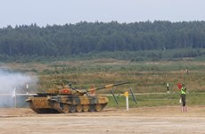 [Photo] Kíp xe tăng Việt Nam thi đấu tại Army Games 2020