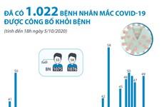 [Infographics] 1.022 bệnh nhân mắc COVID-19 được công bố khỏi bệnh