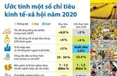 [Infographics] Ước tính một số chỉ tiêu kinh tế-xã hội năm 2020