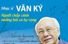 [Infographics] Nhạc sỹ Văn Ký: Người chắp cánh những bài ca hy vọng