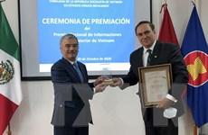Trao Giải thưởng về thông tin đối ngoại cho các tác giả Mexico