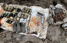An Giang: Phát hiện hàng trăm viên đạn và 1 súng Colt 45 trong vườn