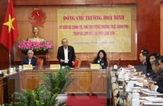 Phó Thủ tướng Trương Hòa Bình làm việc tại tỉnh Lạng Sơn