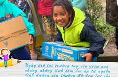 'Cô gái Hà Lan' chung tay chia sẻ cùng học trò vùng lũ Quảng Trị