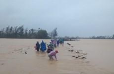Nhiều tuyến đường bộ quan trọng ở Quảng Nam bị sạt lở, ngập sâu