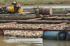 Nhiều hộ nuôi cá bè trên sông La Ngà đã được di dời đến nơi mới