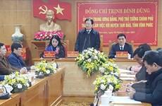 Phó Thủ tướng: Phấn đấu đưa Tam Đảo trở thành thị xã năm 2025