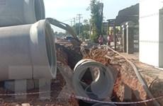 Nam công nhân tử vong do ống cống ximăng rơi trúng khi đang làm đường