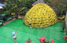 Chiêm ngưỡng mô hình bó hoa cúc mâm xôi lập kỷ lục lớn nhất Việt Nam