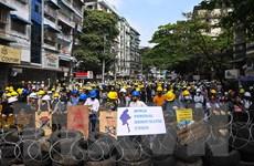 Myanmar: Hàng nghìn người tiếp tục biểu tình tại các thành phố lớn