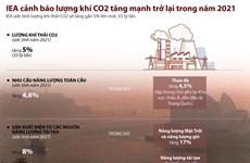 [Infographics] Lượng khí thải CO2 năm 2021 ước tính lên tới 33 tỷ tấn