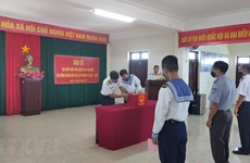 [Video] Khánh Hòa: Bầu cử sớm nơi huyện đảo Trường Sa
