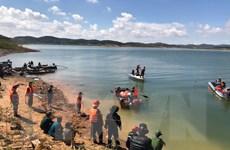 Chìm tàu hút cát, một người mất tích trên hồ thủy điện Đại Ninh