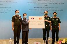 Bộ Tư lệnh Thủ đô hỗ trợ Bộ Chỉ huy quân sự Vientiane chống COVID-19