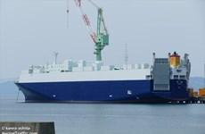 Tàu hàng Nhật Bản hơn 11.000 tấn bị lật sau va chạm với tàu nước ngoài