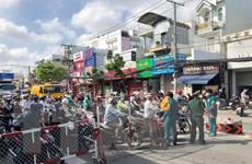 TP Hồ Chí Minh ùn tắc giao thông tại các chốt kiểm soát quận Gò Vấp
